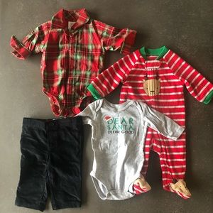 Carter's baby boy Christmas bundle 3 months